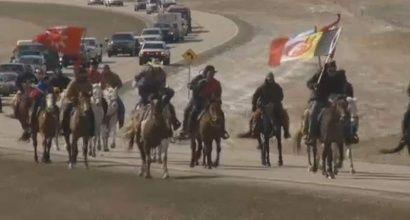 Native American protest against North Dakota pipeline (KXNET-TV)