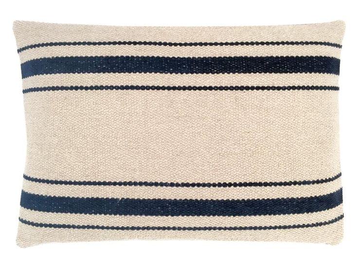 Beige Navy Cushions