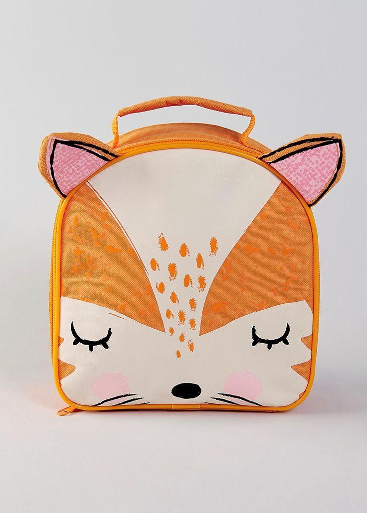 Fox Lunch Bag (23cm x 21cm x 8cm) - Matalan