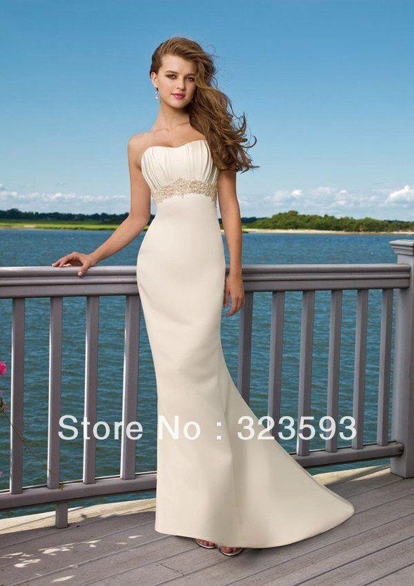 Scoop Chiffon Beach Wedding Dresses 2017 Ankle Length Custom Made Bw2 Pinterest Dress 201