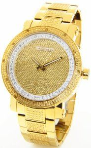 45 best images about time peace michael kors men jojino real diamond watch by joe rodeo watch mens gold tone case metal band gold face