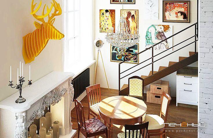Дизайн маленькой квартиры в стиле лофт
