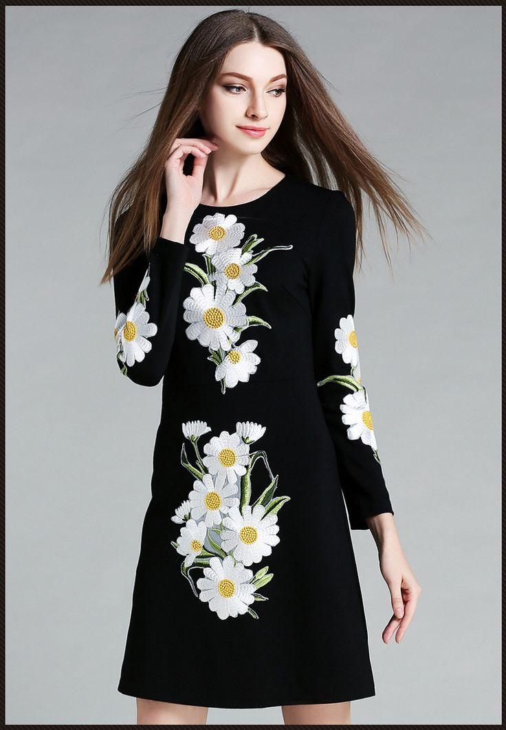 LEEJOOER Womens Elegante Borduurwerk Herfst Jurk 2016 Fashion Europese Stijl Casual Vintage Lange Mouwen Print Bloemen Mini Jurk in [xlmodel]-[size]-[9999]maat In CMSizebustetaillelengteschoudermouwS8571873654M8975883755L9379893856XL9783903957XXL101879 van jurken op AliExpress.com | Alibaba Groep