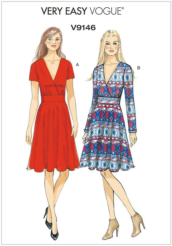 Misses Dress Vogue Sewing Pattern 9146.