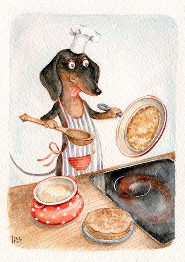 Dachshund clube inga izmaylova vintage dachshunddachshund artweenie dogsdoggiessausage