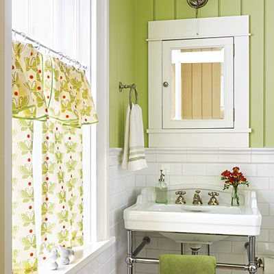 Would like to do something like this for the Girls bathroom~ Different color scheme though~ Blue or Purple and Gray