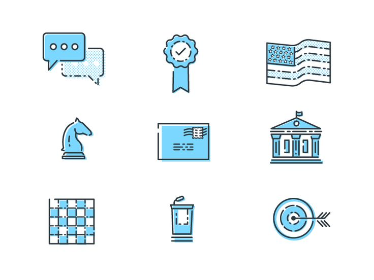 Political Potential Icon Set - Work In Progress