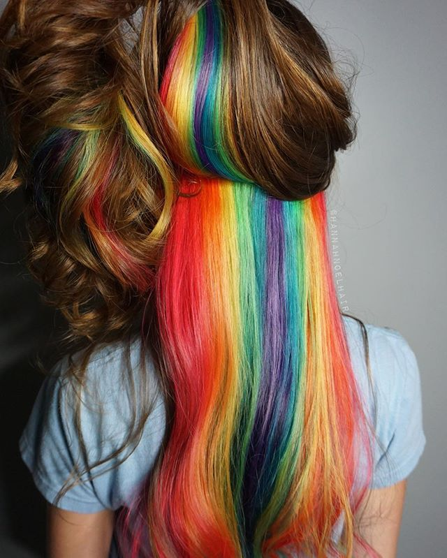Hidden Gem I'm loving this Hidden Rainbow trend! I used all #PopXG on prelightened hair and processed for 20 minutes. The result is so vibrant and beautiful, I am just so in love  Especially with Paul Mitchell Pop XG!