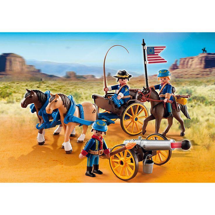 Playmobil Western Pojazd kawalerii z armatą, 5249, klocki
