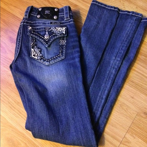 Miss mes Boot cut. Worn once. Just have been sitting in my closet since I own more rocks now. 26x34. No flaws. Miss Me Jeans Boot Cut