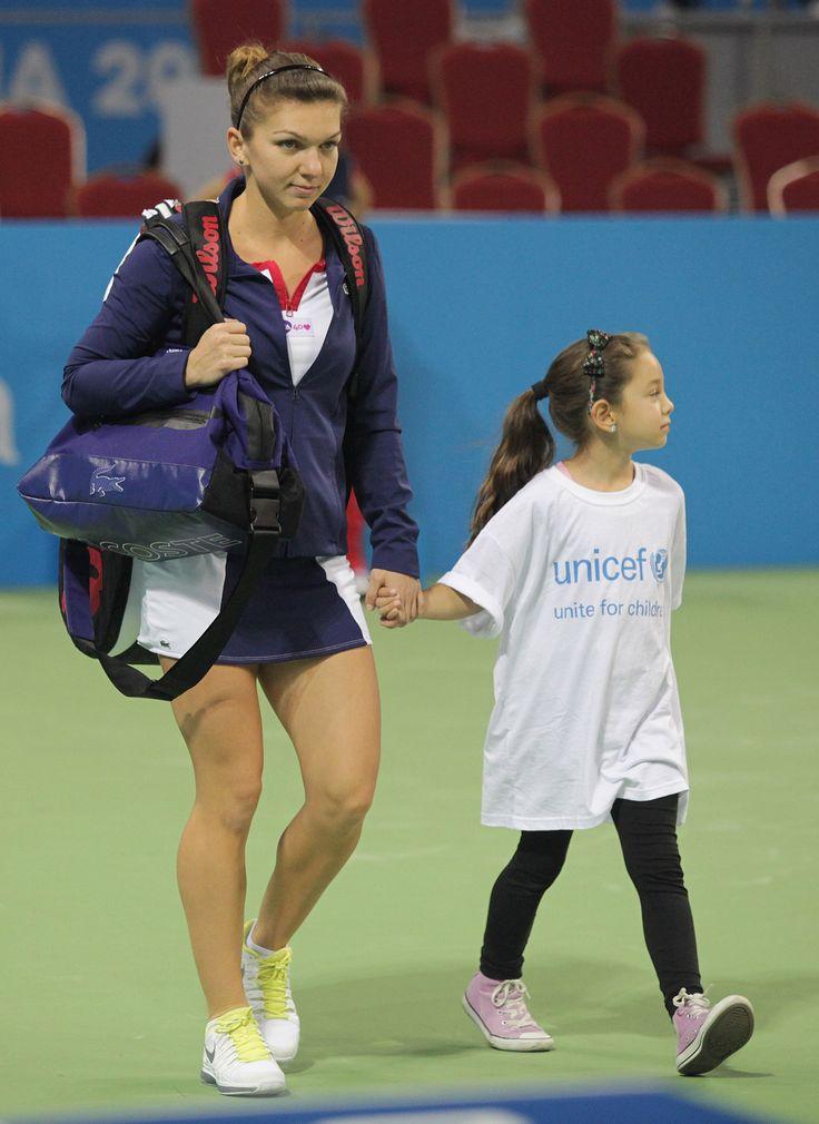 Simona Halep in her Match against Elina Svitolina, from Ukraine, at the Garanti Koza WTA Tournament Of Champions in Sofia, Bulgaria on October 31st 2013. #WTA #Halep #Sofia