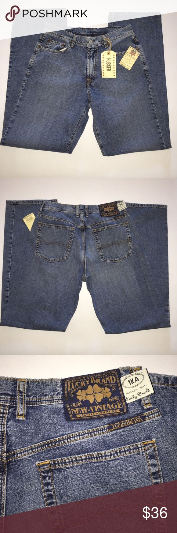 NWT Lucky Brand Husker Jean Men's 30R New with tags and never worn Lucky Brand Husker jeans men's size 30 regular. Lowrise-5-Pocket/Bootleg Lucky Brand Jeans Bootcut
