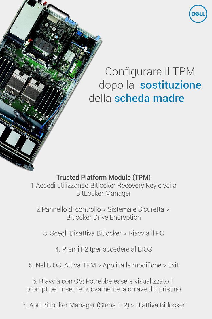 #DellAiuta: In caso di riparazione della scheda madre è necessario reimpostare il #TPM .   Ma che cos'è il Trusted Platform Module ? ->