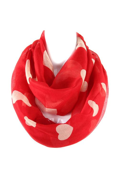 Sweetheart Infinity Scarf on Emma Stine Limited