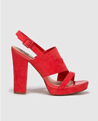 Sandalias de tacón de mujer Formula Joven rojas