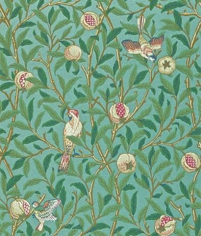 Bird & Pomegranate (212538) Morris Wallpapers One of