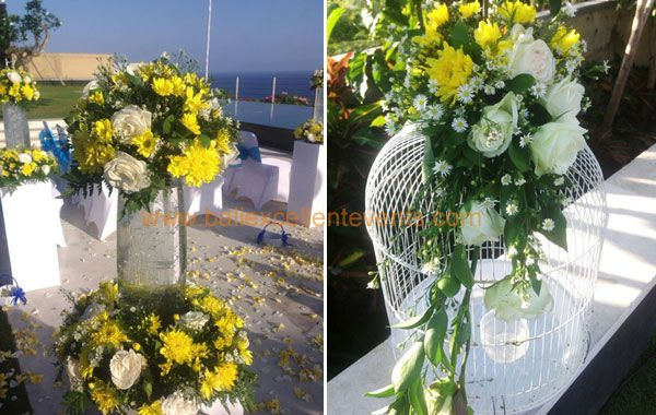 flower arrangement for ceremony