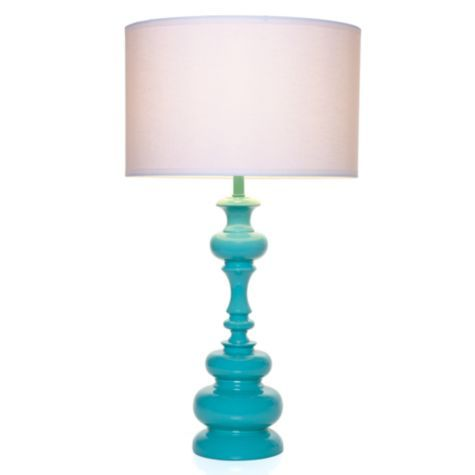 I want to do a bedroom in my new house in turquoise and coral.  I think this lamp must be a part of that!