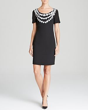 Moschino Cheap And Chic Dress - Crepe Faux Rock Pearl Print