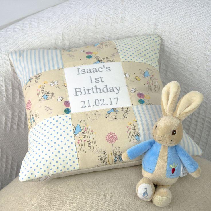 Peter Rabbit© Birthday Cushion Blue
