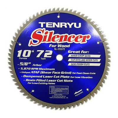 Table Saws 122835: Tenryu Sl-25572 10-Inch Carbide Tipped Table Miter Saw Blade -> BUY IT NOW ONLY: $60 on eBay!