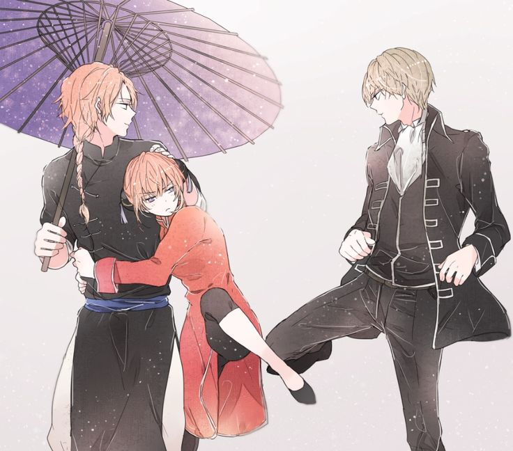 Gintama // Kagura, Kamui and Sougo