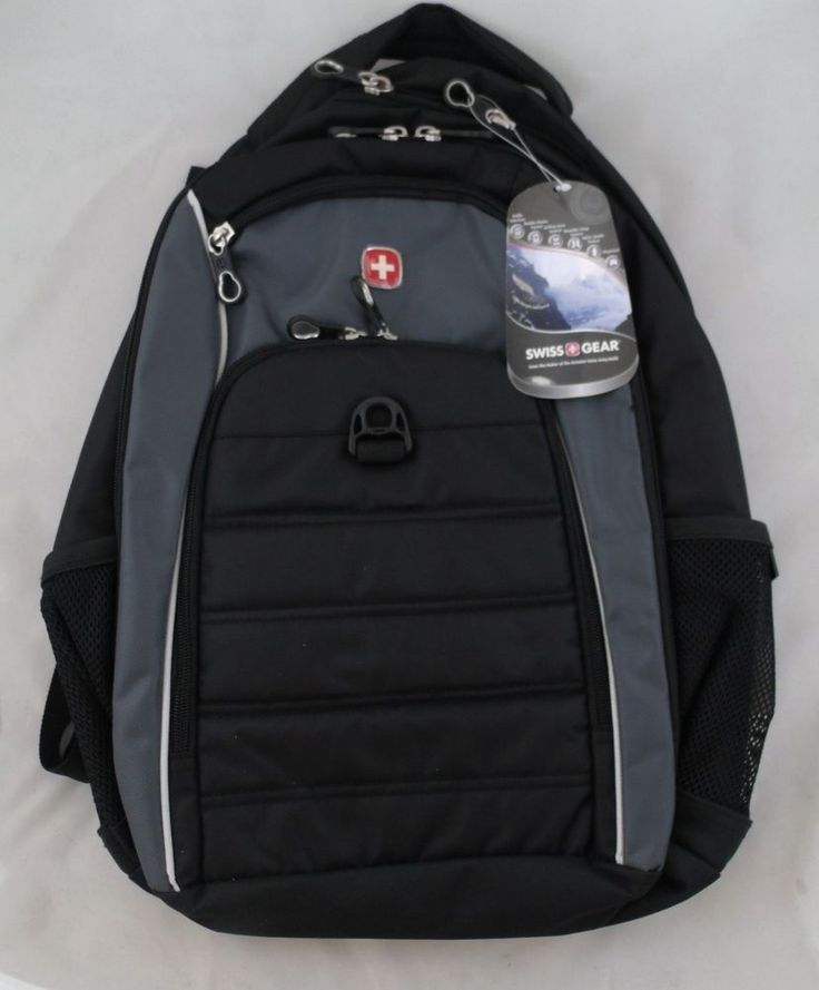 Swiss Gear Backpack Sports Laptop Sleeve Black Gray SA1296 #SwissGear #Backpack