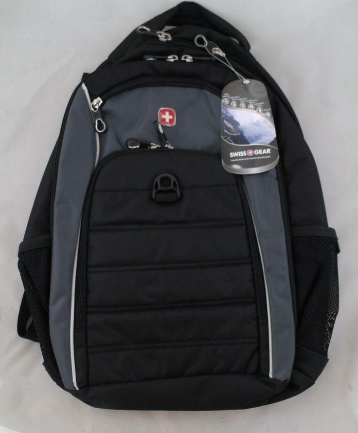 Swiss Gear Backpack Sports Laptop Sleeve Black Gray SA1296 #SwissGear #Backpack