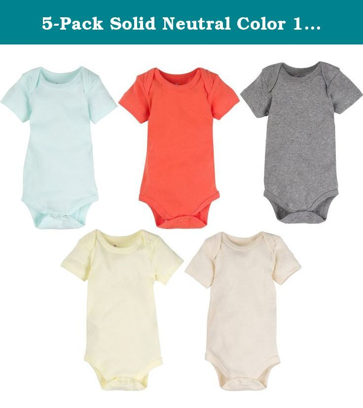 5-Pack Solid Neutral Color 100% Cotton MiracleWear Bodysuits by Miracle Blanket (3-6 Months, Neutral Solid Colors). Our MiracleWear 5-pack Bodysuits are super-soft, high quality and specially designed for lots of snuggling. They are good for morning, noon, or night; playtime, feedtime, or naptime. We always say you can never have enough bodysuits. They are also the best price of any other 100% cotton bodysuits on the market (that we know of).