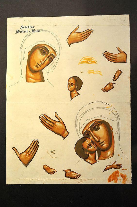 Icon Tatiana Chirikova Sketch 02 09 - Ikone – Wikipedia: