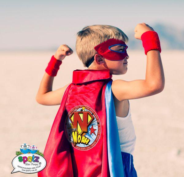 Personalised Kids Super Hero Capes www.spatz.com.au