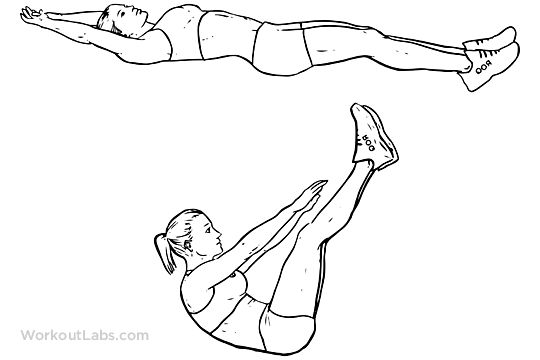 Jackknife Sit-up / Crunch / Toe Touches