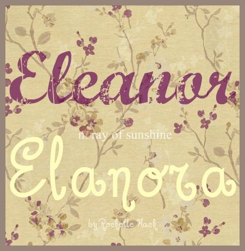 Baby Girl Names: Eleanor and Elanora. Meaning: Ray of Sunshine. Origin: Greek; Dutch; British. These two beautiful names can be spelled multiple of ways, but I finally settled on these two variations as my favorites. (I also liked Elanora spelled with two Ls for nickname purposes) http://www.pinterest.com/vintagedaydream/baby-names/