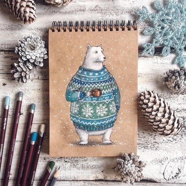 Теплые рисунки Юлии Селиной