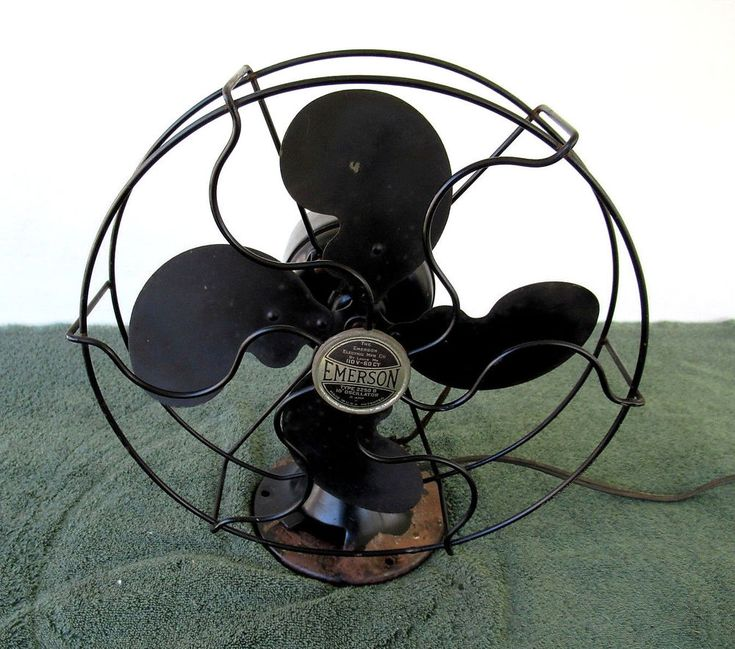 "Antique EMERSON Electric Fan, 2250-B,1937 10"" Oscillator Tilting Works, Vintage"