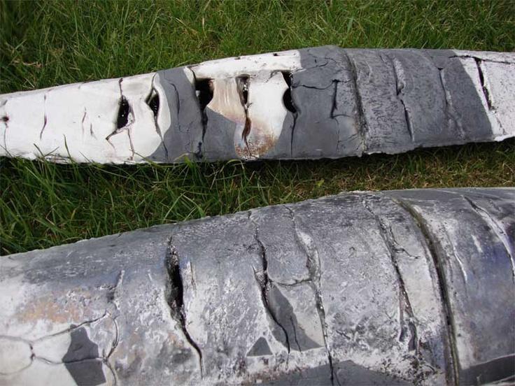 Anna Klimešová, Object, 2009, 72x18x8 cm, raku #clay #sculpture #raku