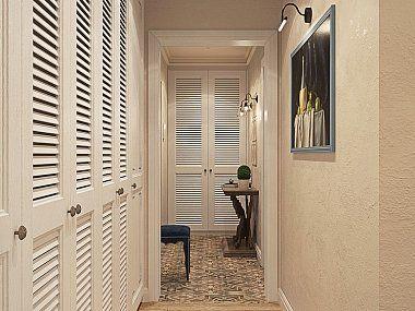 Интерьер двухкомнатной квартиры в стиле легкой классики в ЖК Академ-Парк, 68 кв.м.