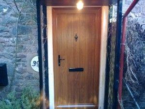 Stunning Irish Oak Timber Composite Door from the Solidor Flint Range of timber core composite doors #Timbercompositedoors #solidor #solidorcompositedoors