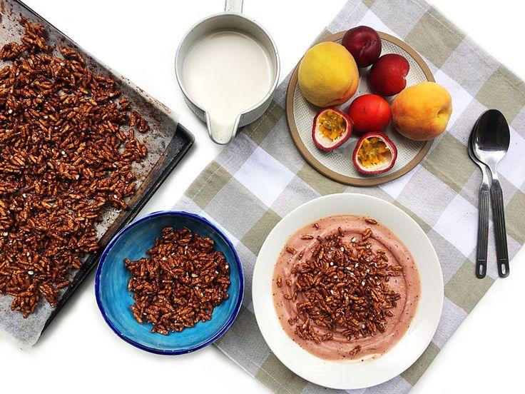 How to Make Homemade Healthier Coco Pops #vegan #glutenfree
