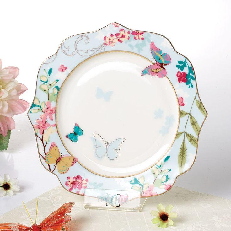 Hot sale flower shape Bone China plate dish steak plate fast good tray 1pcs-in  sc 1 st  Pinterest & 463 best Kitchen images on Pinterest | Kitchen dining living ...