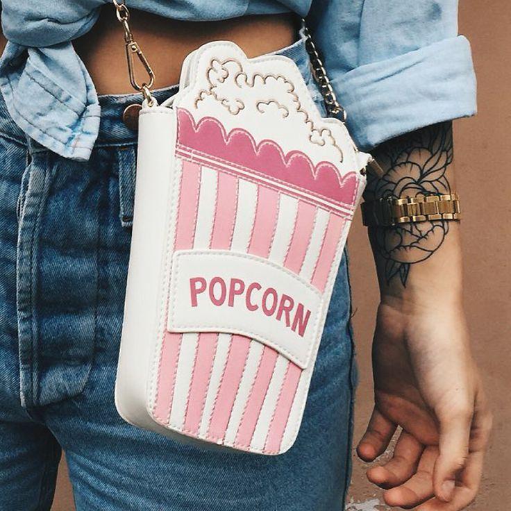 Hot  fashion personality embroidered letters popcorn shape chain shoulder bag messenger bag ladies handbag clutch purse 5 colors