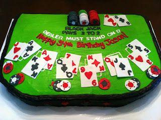 Edible Sheet Cake Topper Blackjack