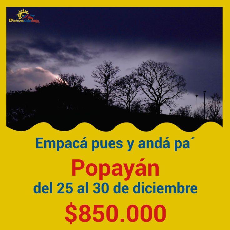 Venite pa' Popayán y disfrutá lo mejor del #turismo #viajandoporcolombia #andayreserva