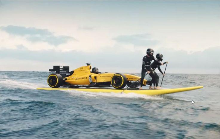 Renault Sport RS16 : Elle est jaune et fait du surf en vidéo