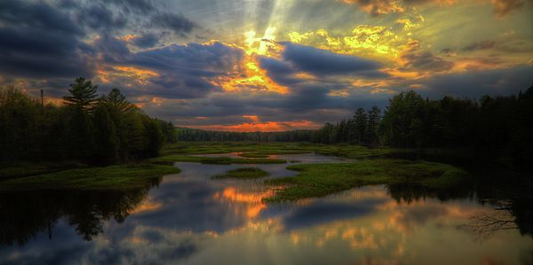 #ADK#Adirondacks - A May sunset on the Moose River in Old ...
