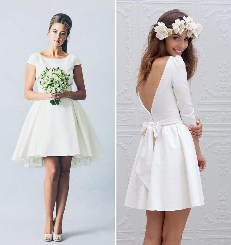 Vestidos de noiva curtos e elegantes!