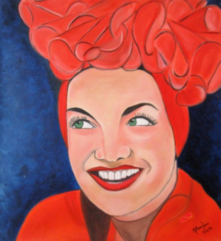 Carmen Miranda Oil Painting