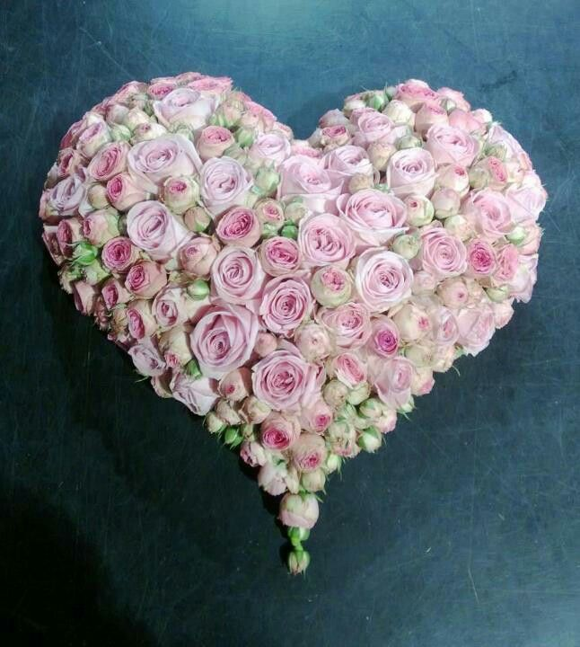 Absolutely love these heart shaped arrangements....perfect for many events....