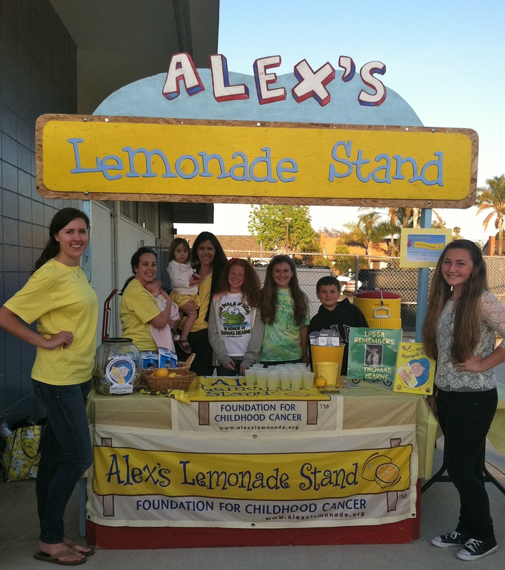 Toys R Us Lemonade Stand : Change childhood cancer research grant http