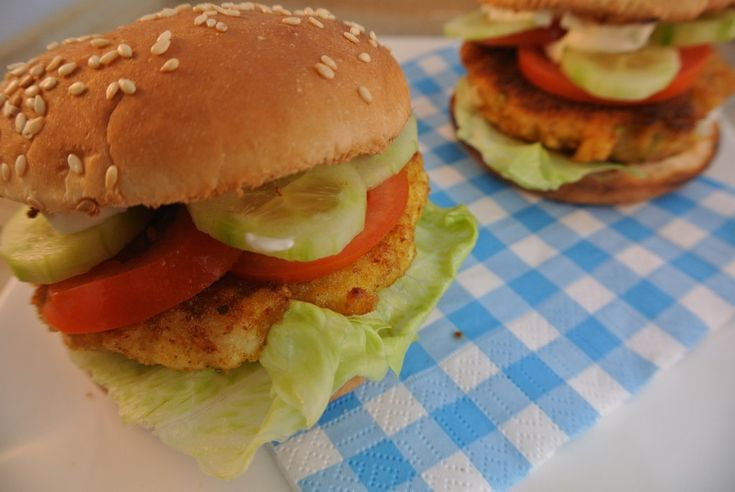 home made fish burgers
